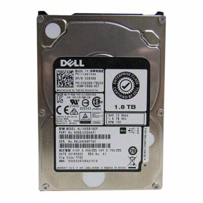 """Dell 1.8TB 4Kn 10K RPM 12Gb/s 2.5"""" SAS Hard Drive - 383N9"""